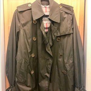 Burberry Nylon Double Breasted Jacket Woman's sz 6